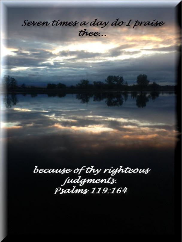 Psalms 119:164