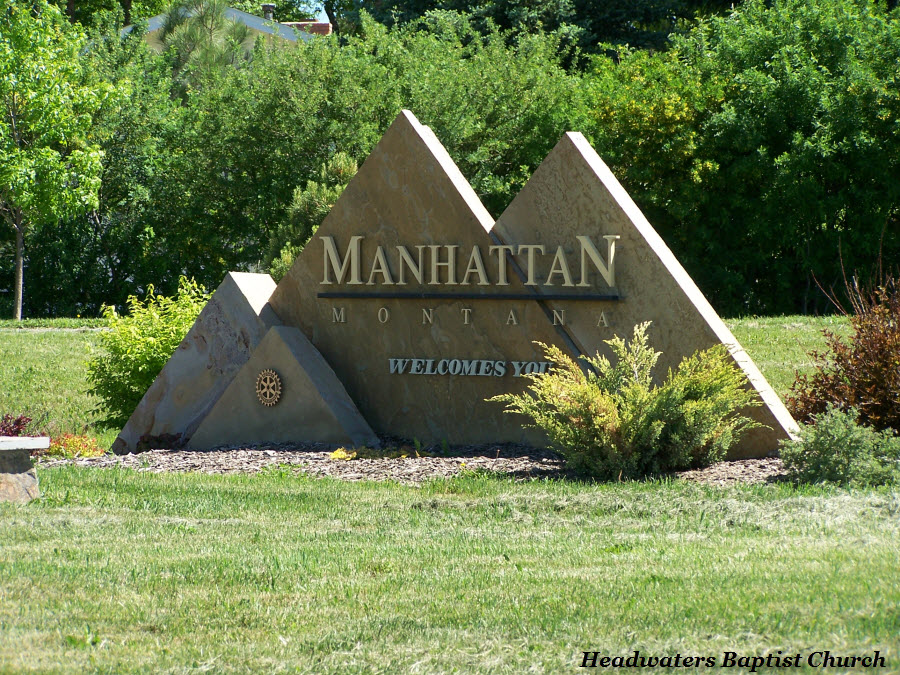 manhattan montana welcome sign