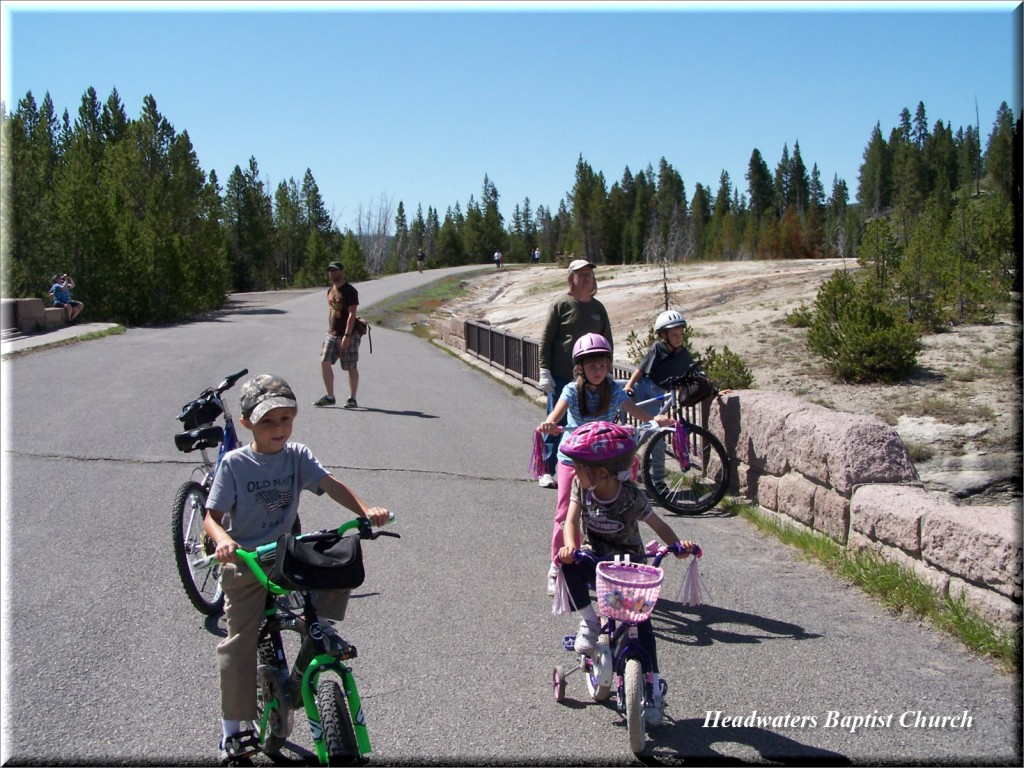 family bike trip to yellowstone