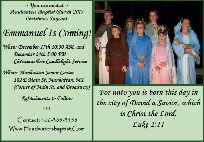 Christmas play 2017 invitation